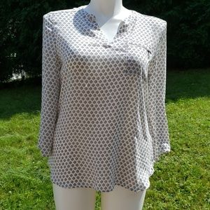 Maurice Blue and White Top Sz L